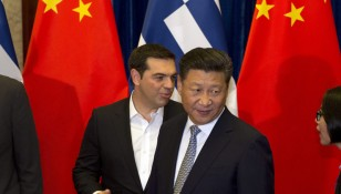 Greek Prime Minister Alexis Tsipras in China