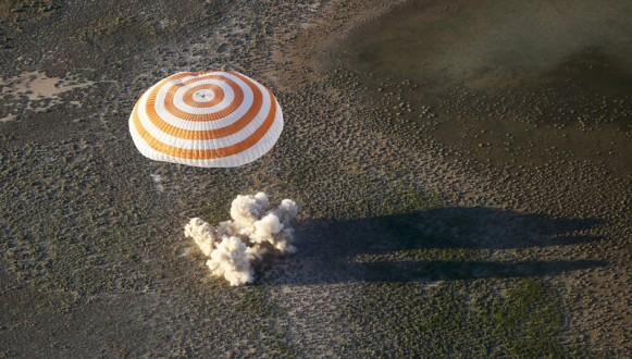 The Soyuz MS-03 returns to earth