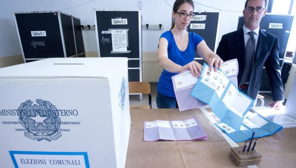 Mayoral run-off elections in Italy