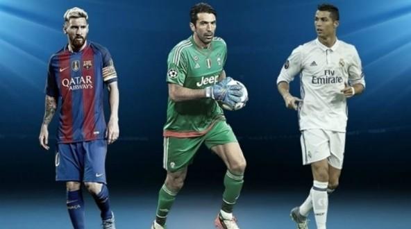 UEFA: Μπουφόν, Μέσι και Ρονάλντο υποψήφιοι για τον τίτλο του κορυφαίου