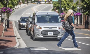 Ford and Virginia Tech Transportation Institute Self-driving Veh