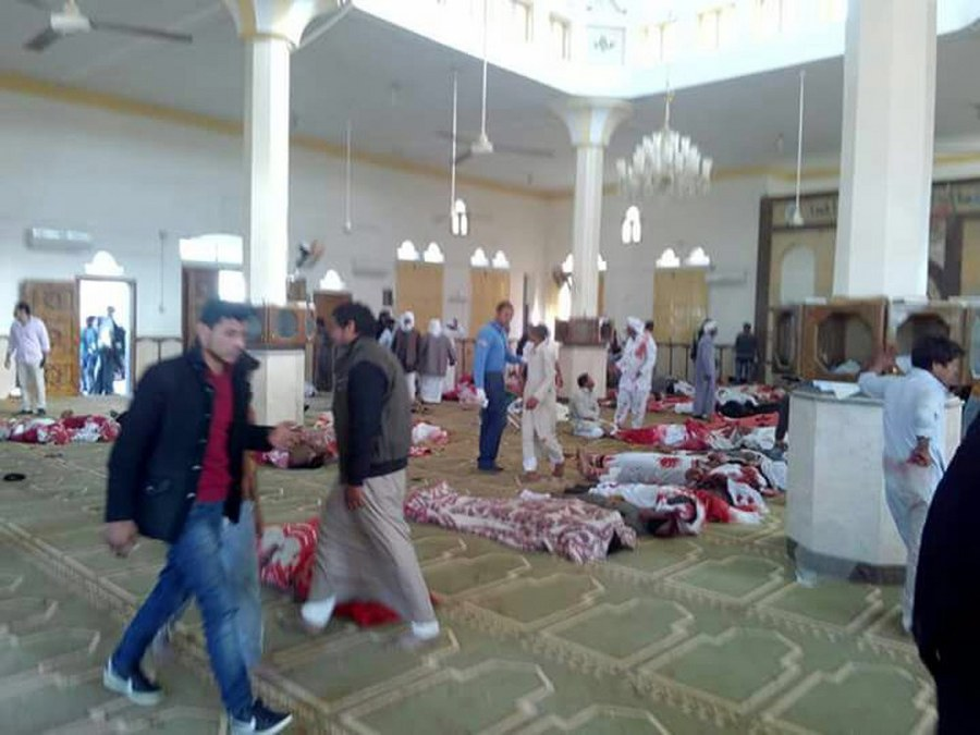 At least 25 killed, 80 injured in bomb attack on Egyptian mosque
