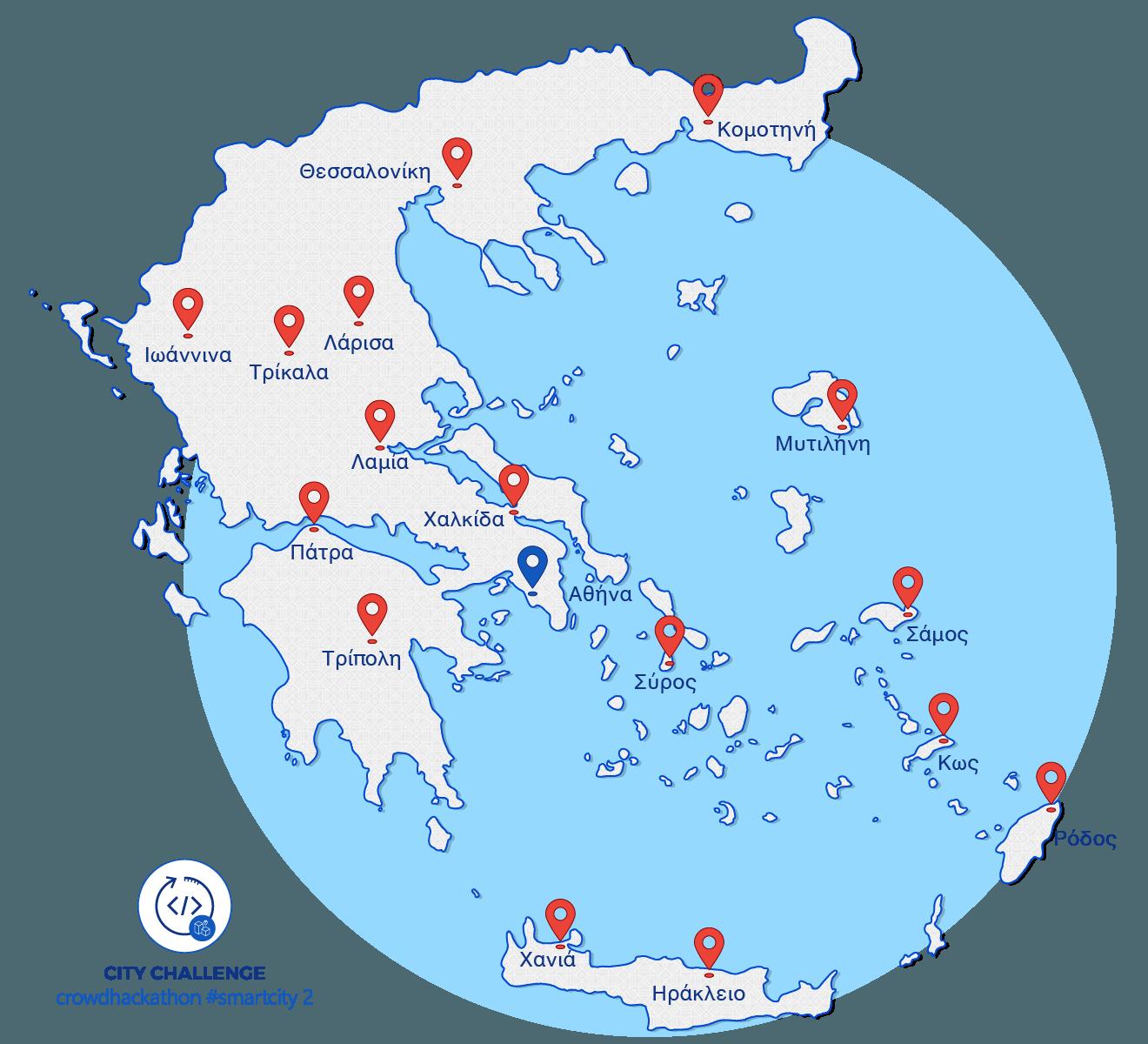 COSMOTE Crowdhachathon KEDE_map