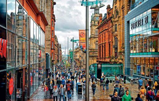 Διαδήλωση υπέρ της ανεξαρτησίας της Σκωτίας στη Γλασκώβη