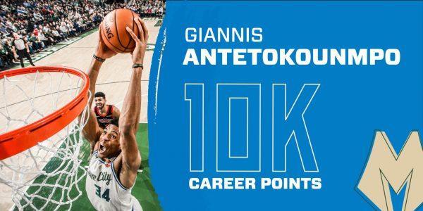 «Έγραψε» ξανά ιστορία ο Giannis: Ξεπέρασε τους 10.000 πόντους στο NBA! - Ο 6ος νεότερος που το κατορθώνει