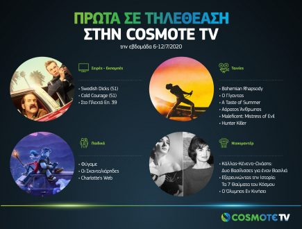 Πρώτα σε τηλεθέαση στην COSMOTE TV - Εβδομάδα 6-12/7