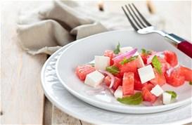 Σαλάτα φέτα-καρπούζι