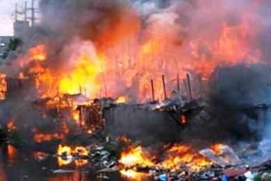 Πυρκαγιά σε παραγκούπολη της Μανίλας