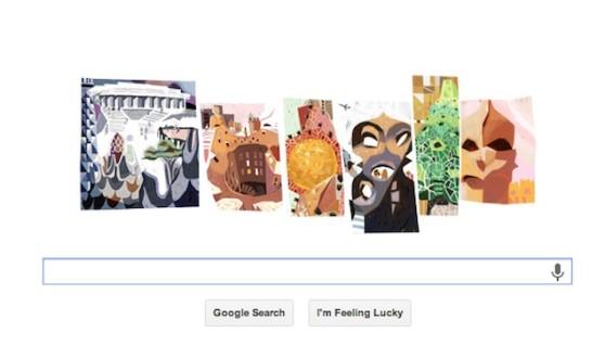 Ένα doodle προς τιμήν του Γκαουντί