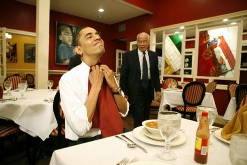Το αγαπημένο φαγητό του Ομπάμα είναι το...