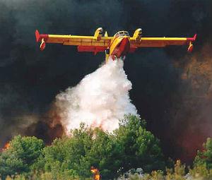 Πυρκαγιά σε δύσβατη περιοχή της Σάμου