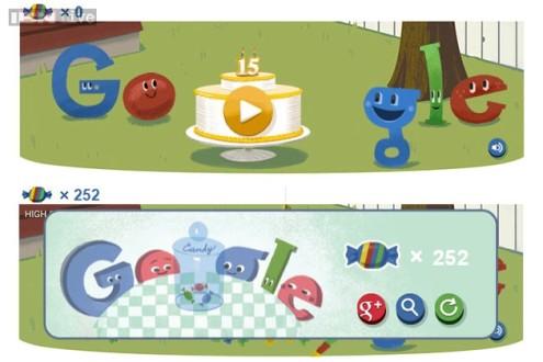 To παιχνίδι της google για τα 15α γενέθλιά της