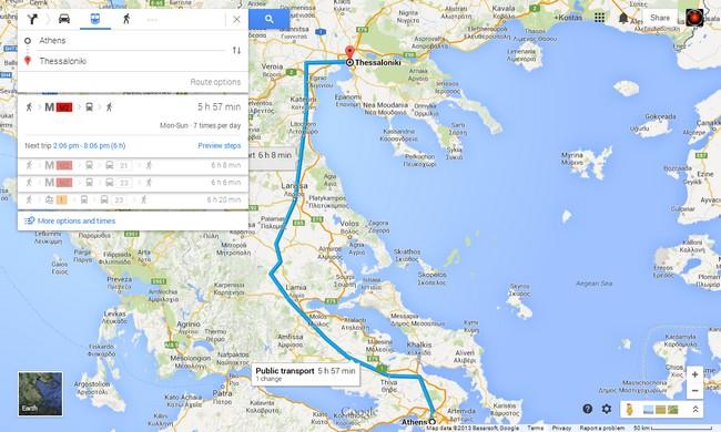 Τα δρομολόγια της ΤΡΑΙΝΟΣΕ στους Google Maps