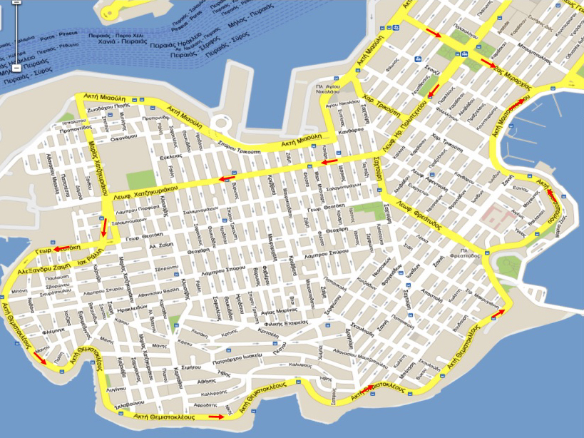 Ο νέος κυκλοφοριακός χάρτης του Πειραιά